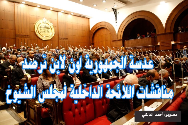 مناقشات اللائحة الداخلية لمجلس الشيوخ