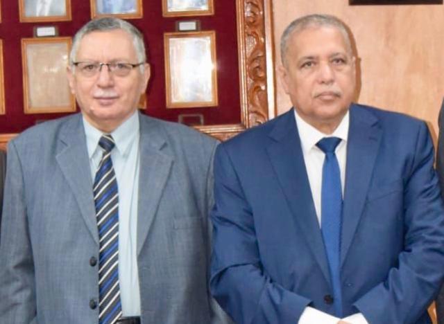 رئيس النيابة الإدارية يهنئ رئيس هيئة قضايا الدولة بمنصبه الجديد
