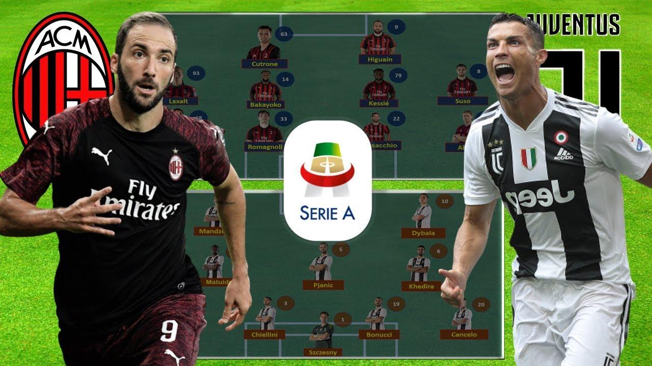 مشاهدة مباراة يوفنتوس وميلان فى الدوري الإيطالي