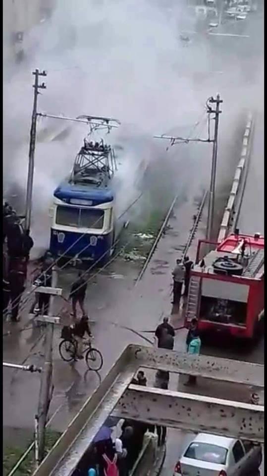 حريق الترام