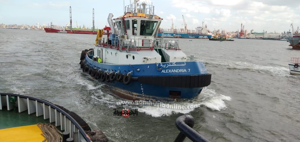 lلسفن التجارية والقاطرات البحرية بميناء الاسكندرية تطلق ابواقها تضامنا مع فرق مكافحة كورونا-