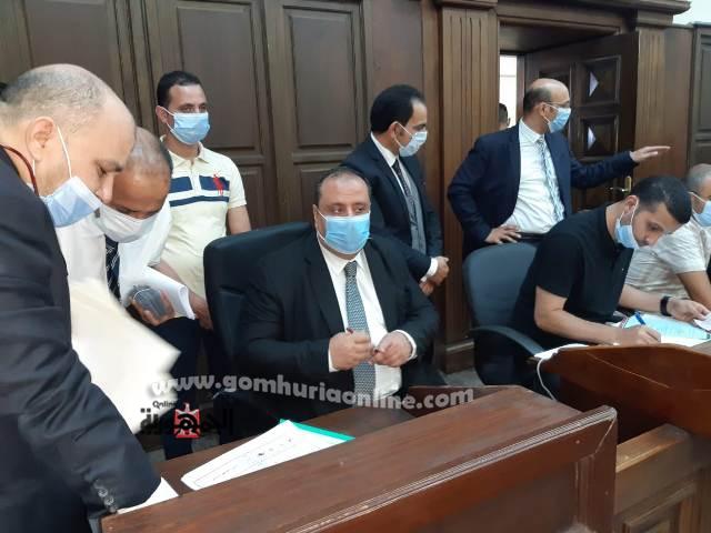المستشار محمد المشد رئيس محكمة شرق الإسكندرية الإبتدائية و اللجنة المشرفة على تلقى طلبات الترشيح لمجلس الشيوخ