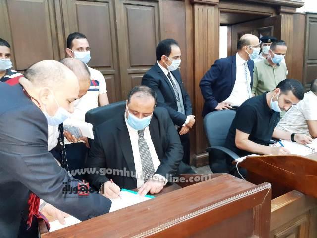 المستشار  محمد المشد رئيس اللجنة المشرفة على الأنتخابات بالإسكندرية