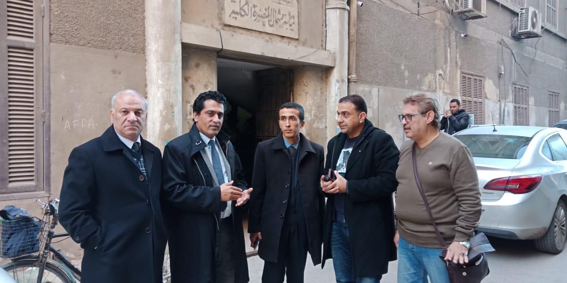 عضو نقابة الصحفيين امام محكمة المنصورة