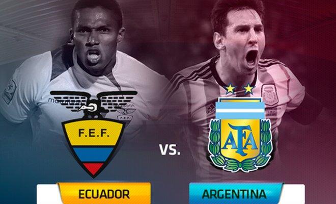 بث مباشر مباراة الارجنتين والإكوادور