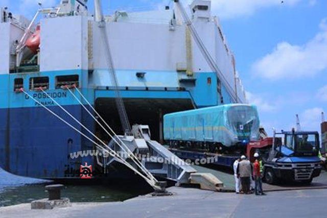 وصول الشحنة الثانية من عربات متروالخط الثالث لميناء الاسكندرية من كوريا لجنوبية