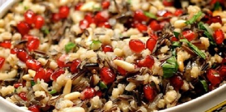 سلطة القمح والرمان لحرق الدهون