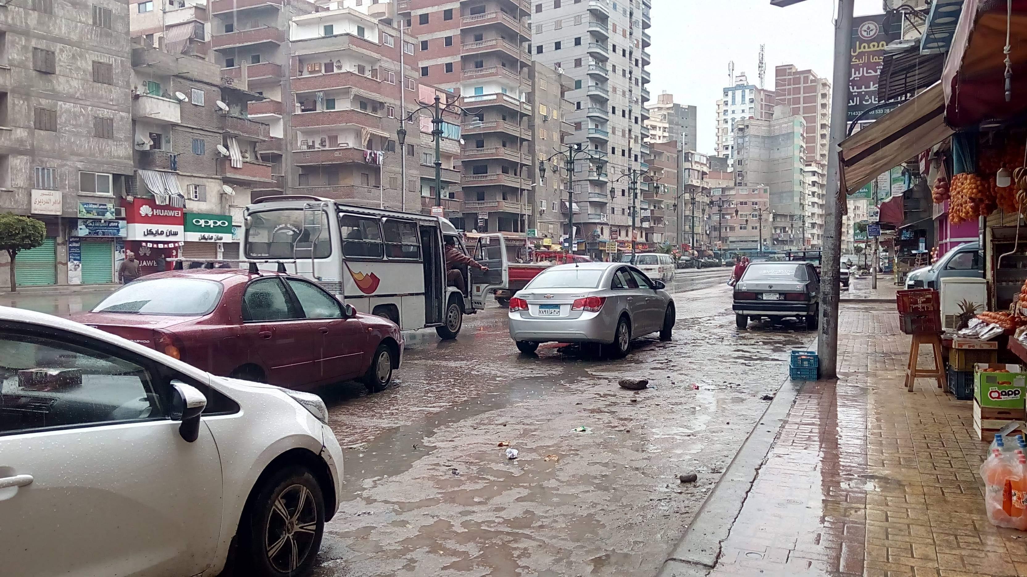الامطار تغرق شوارع الاسكندرية
