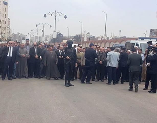 جنازة الشهيد البطل محمد الحوفى