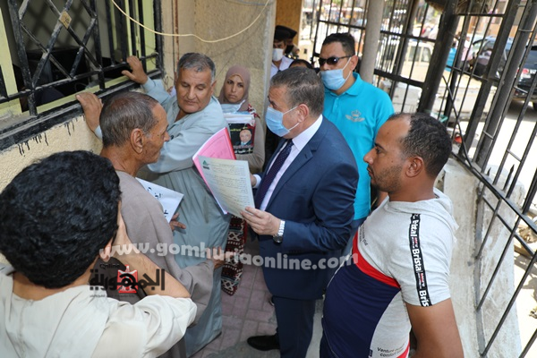 اللواء إبراهيم أبو ليمون محافظ المنوفية يتابع منافذ التصالح فى مخالفات البناء