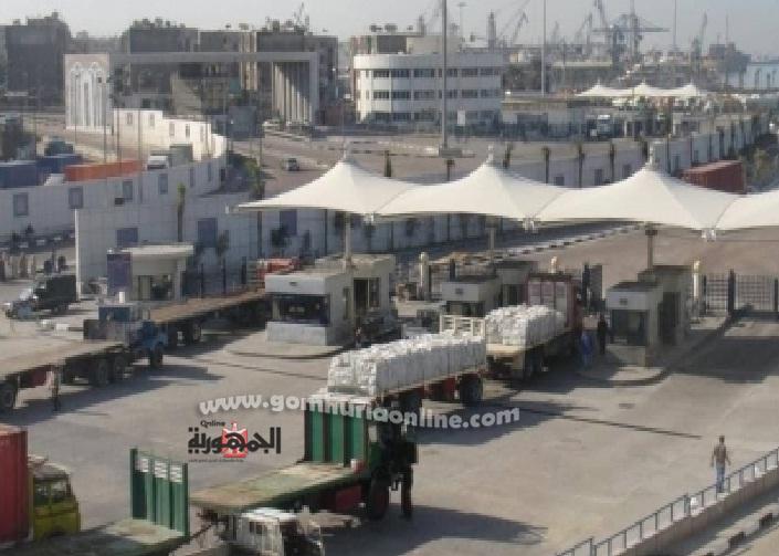 دخول وخروج الشاحنات من ميناء الاسكندرية-