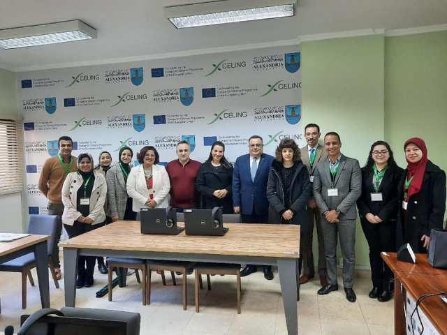 افتتاح مركز ابنكارات اللغة بجامعة الاسكندرية