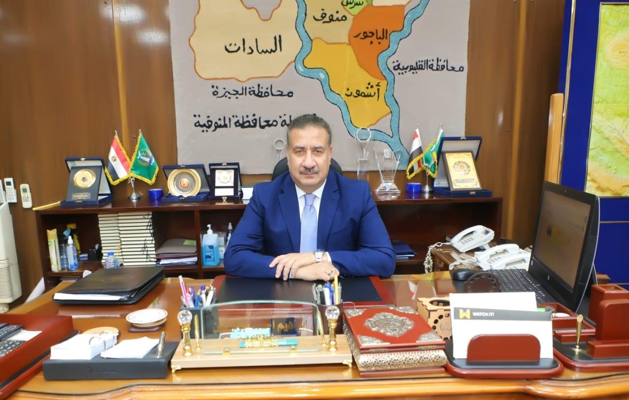 محافظ المنوفية اللواء ابراهيم ابو ليمون