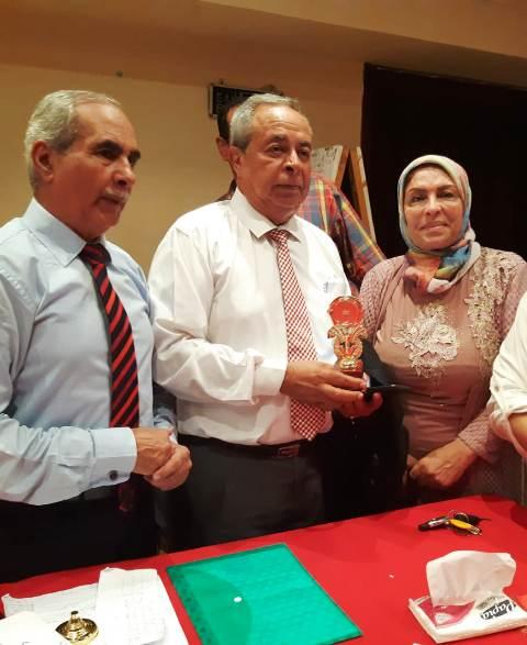 الدكتور ياسر ذكى مستشار المحافظ مع الدكتور إبراهيم عبدالله وساميه طاهر