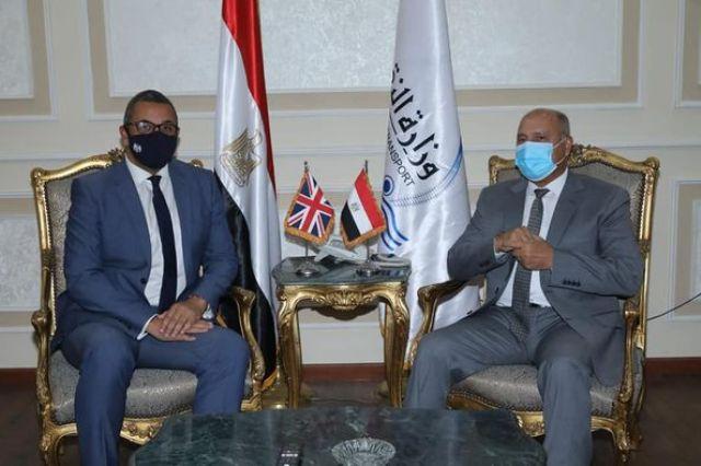 وزير النقل يستقبل وزير الدولة البريطاني للشرق الأوسط وشمال إفريقيا للتباحُث حول سبل دفع التعاون المشترك