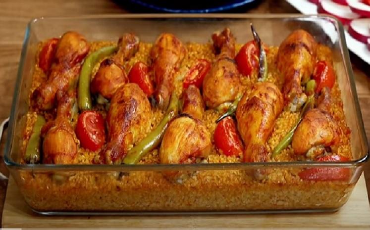 صينية البرغل بالدجاج
