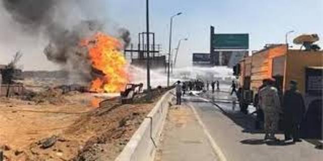 السيطرة على حريق خط غاز القطامية