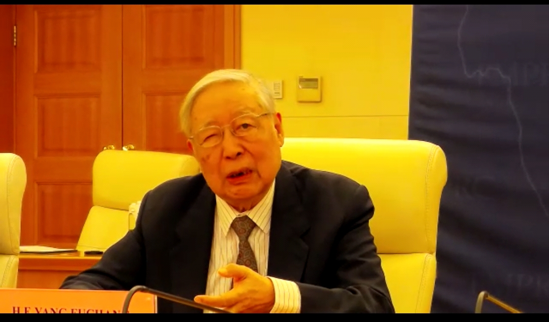 يانج فوتشانج نائب وزير الخارجية الصيني الأسبق، والسفير الصيني الأسبق لدى مصر