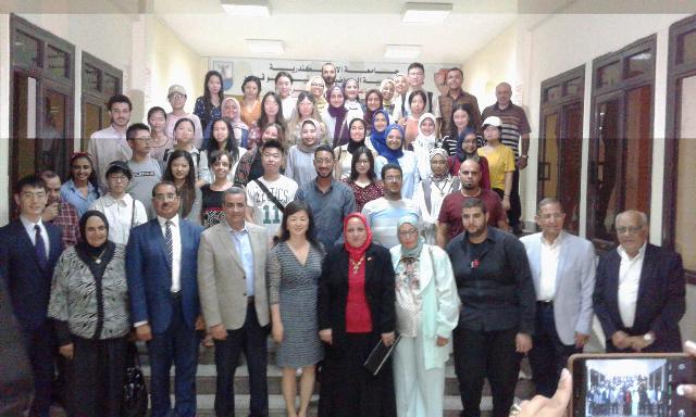 المشاركون بالمعسكر المصرى الصينى الأول