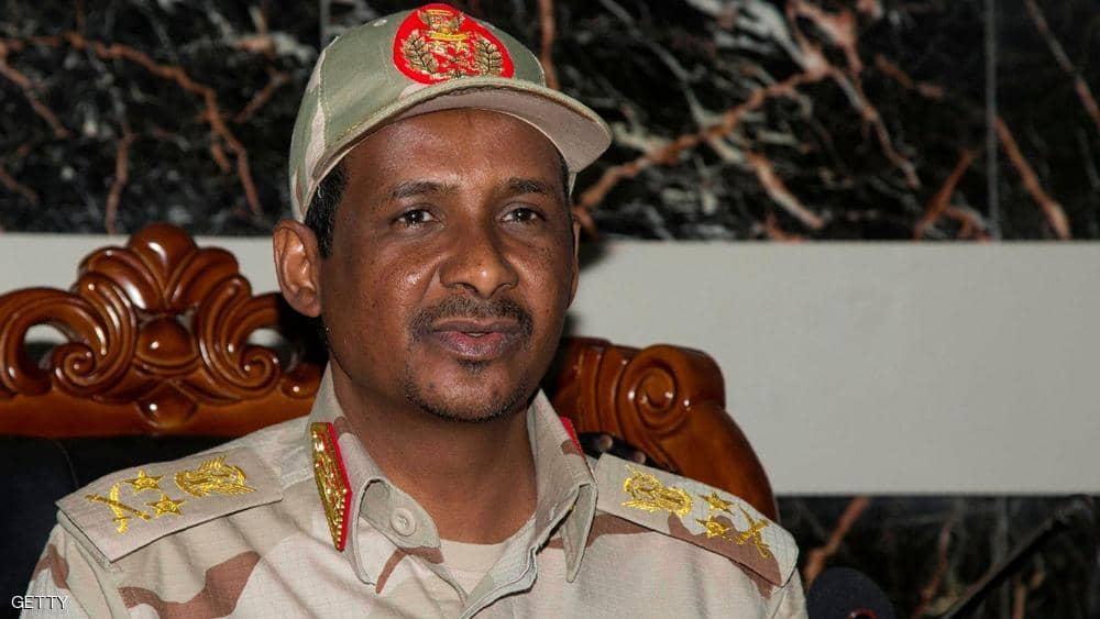 نائب رئيس مجلس السيادة السوداني محمد حمدان دقلو