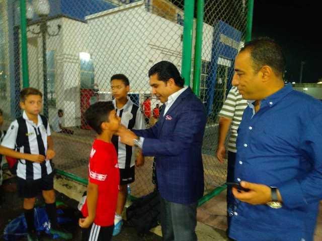 أحمد سمير سليمان رئيس اتحاد الميني فوتبول