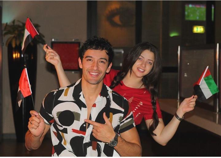 منى فاروق تحتفل باليوم الوطني للامارات فى دبى
