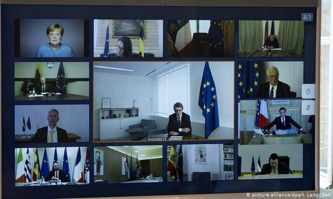 الصورة : الاتحاد الأوروبي يعقد قمة عبر الفيديو لدراسة مواجهة تداعيات كورونا (26 مارس)