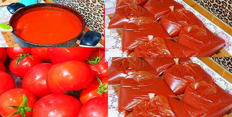 طريقتين لنخزين الطماطم