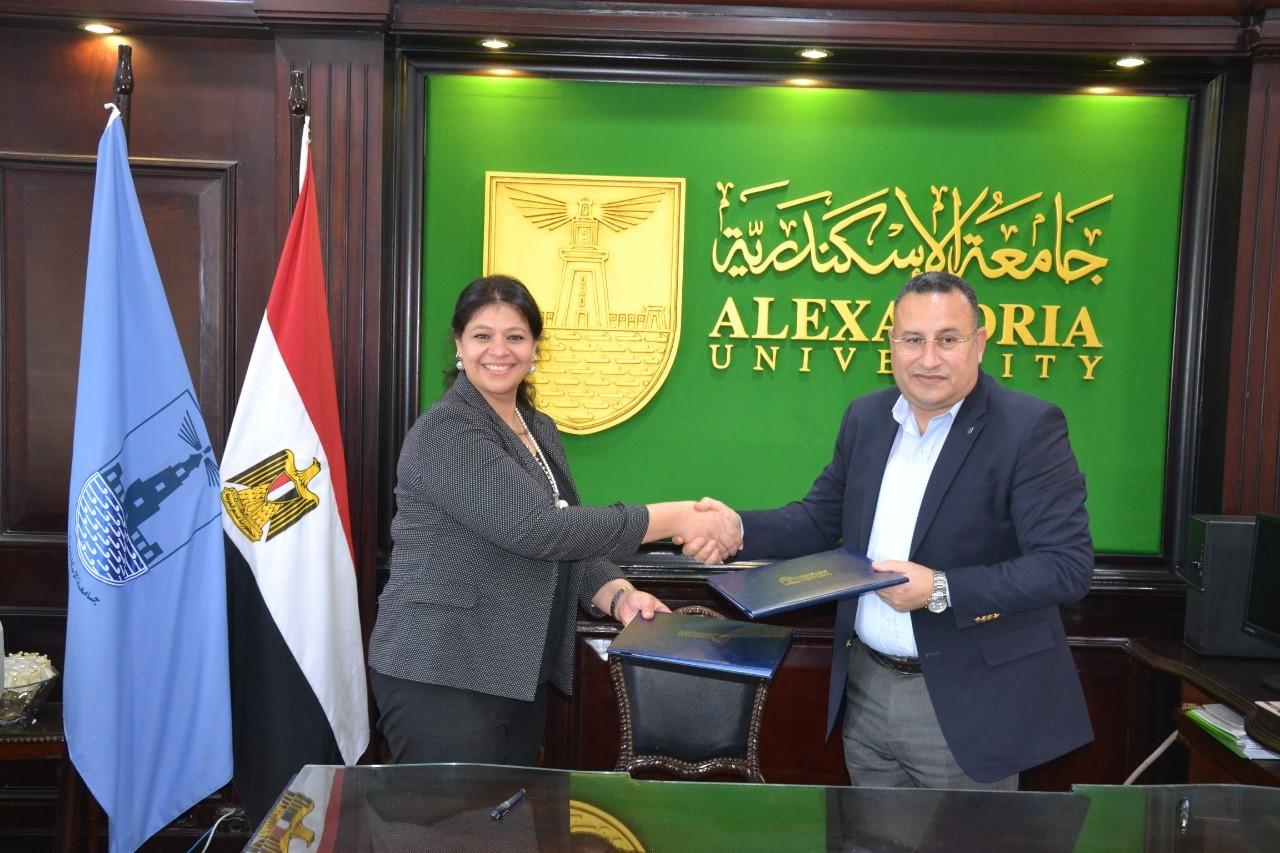جامعة الاسكندرية توقع برتوكول مع وزارة التخطيط لنشر ثقافة ريادة الاعمال