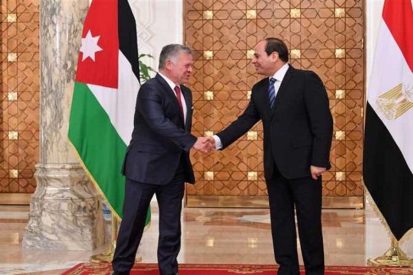 الرئيس السيسى والملك عبدالله