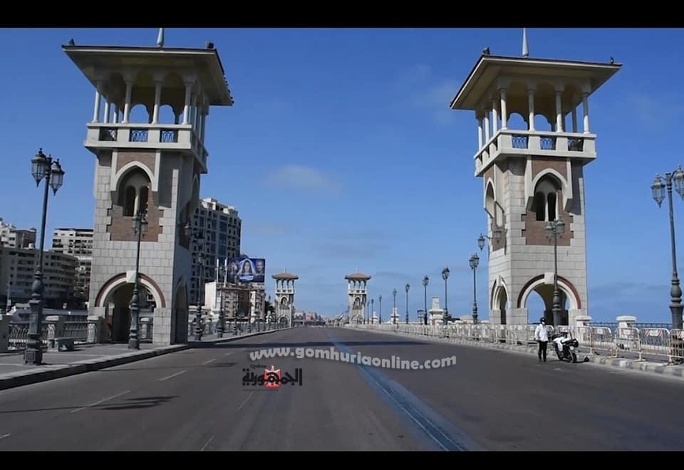 كورنيش الاسكندرية وشواطئها خالية لاول مره من المواطنين والزائرين  فى شم النسيم بسبب كورونا