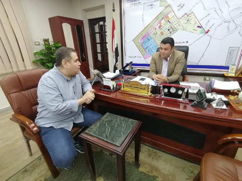 المهندس شريف الشربيني مع محرر بوابة الجمهورية اونلاين