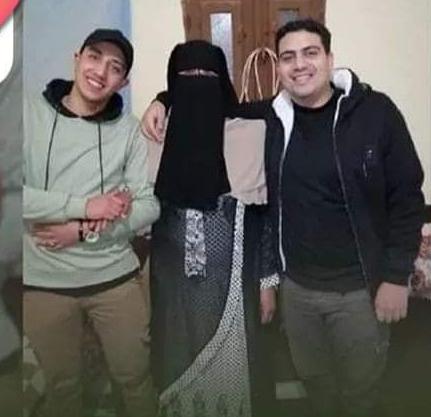 سعيدة إسماعيل مع أولادها