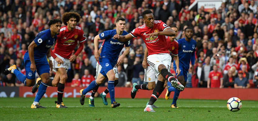 بث مباشر لمباراة مانشستر يونايتد وإيفرتون في الدوري الإنجليزي