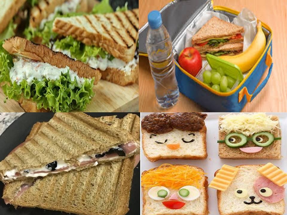 ساندوتشات صحية للمدرسة