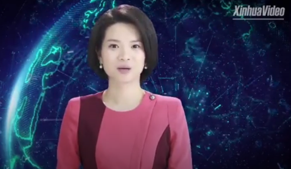 مذيعية صينية روبوت