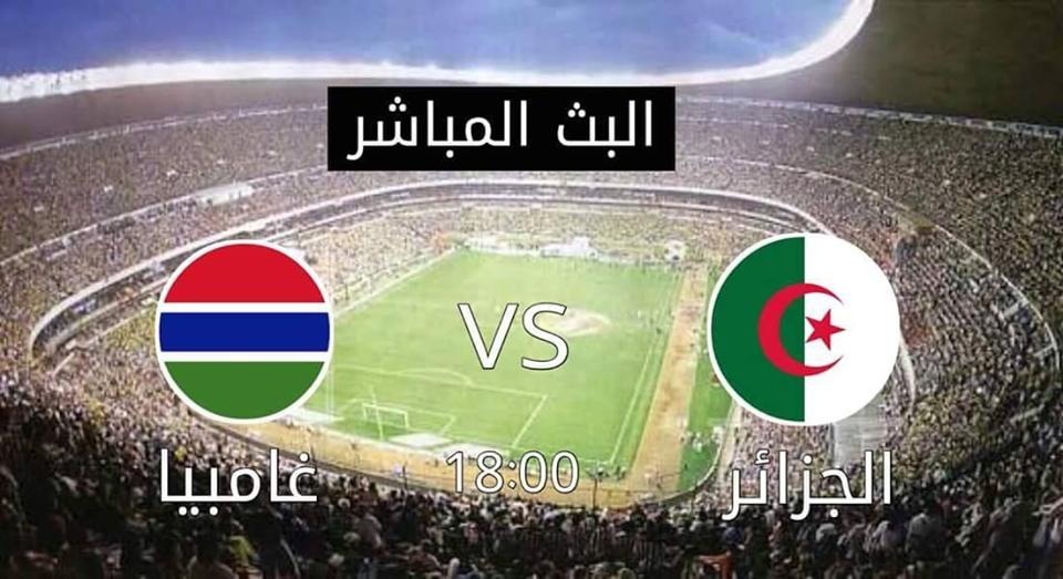 بث مباشر مباراة الجزائر وجامبيا
