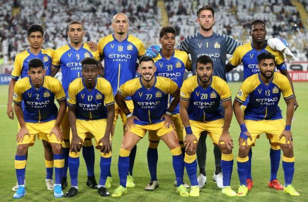 النصر وضمك مسابقة الدوري السعودي موسم 2019 - 2020.