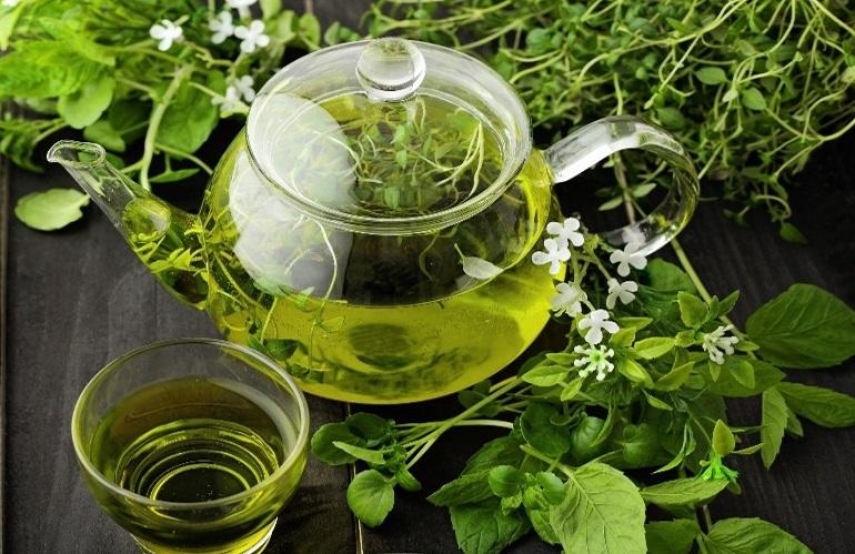 فوائد الشاى الاخضر بالنعناع