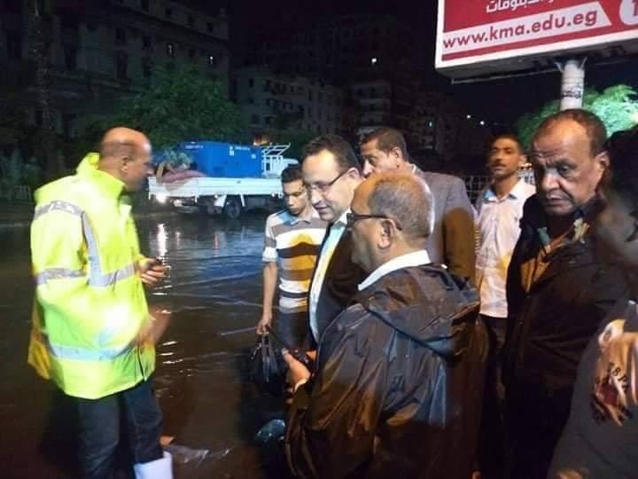 محافظ الاسكندرية يتابع جهود كسح مياه الامطارمنذ الساعات الاولى لتساقطها ليلة امس