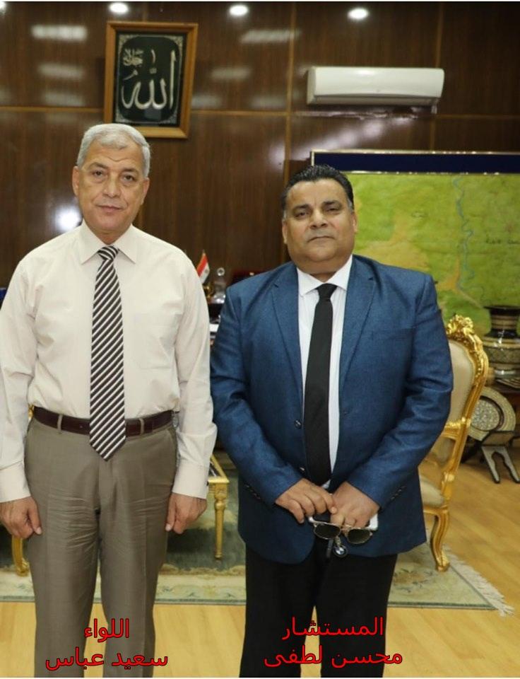 اللواء سعيد عباس و المستشار محسن لطفى