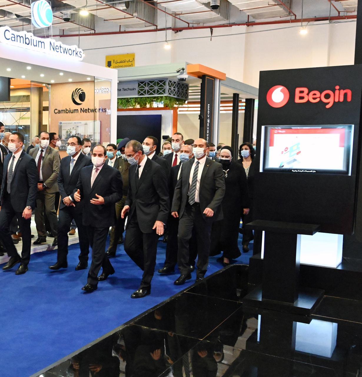 الرئيس عبد الفتاح السيسي يفتتح معرض القاهرة الدولي للتكنولوجيا Cairo ICT