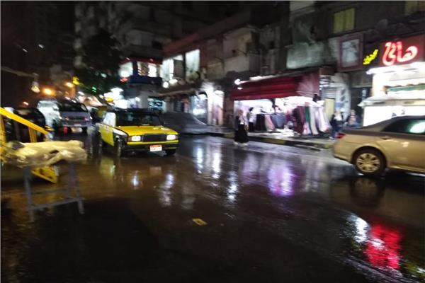 تساقط امطارغزيرة على المدينة منذ قليل   تصوير واثـق حسيـن
