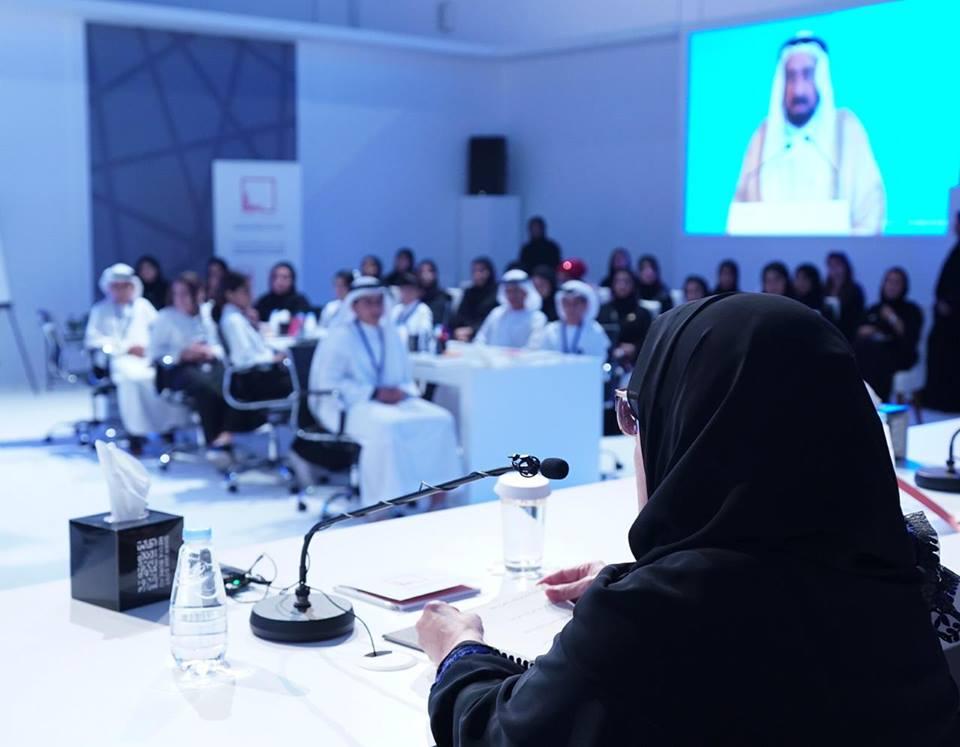 الشيخة جواهر بنت محمد القاسمي في لقاء مع الشباب