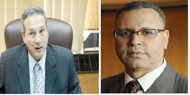 الكاتب الصحفى سعد سليم ومحمد الاتربى رئيس بنك مصر