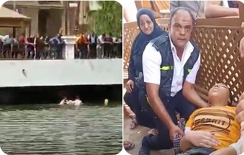 أمين الشرطة ينقذ فتاة من الغرق