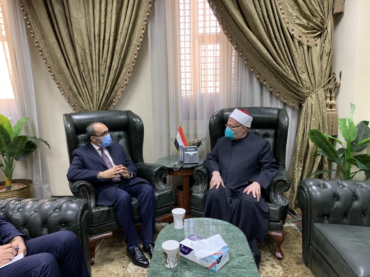 المفتي وسفير افغانستان