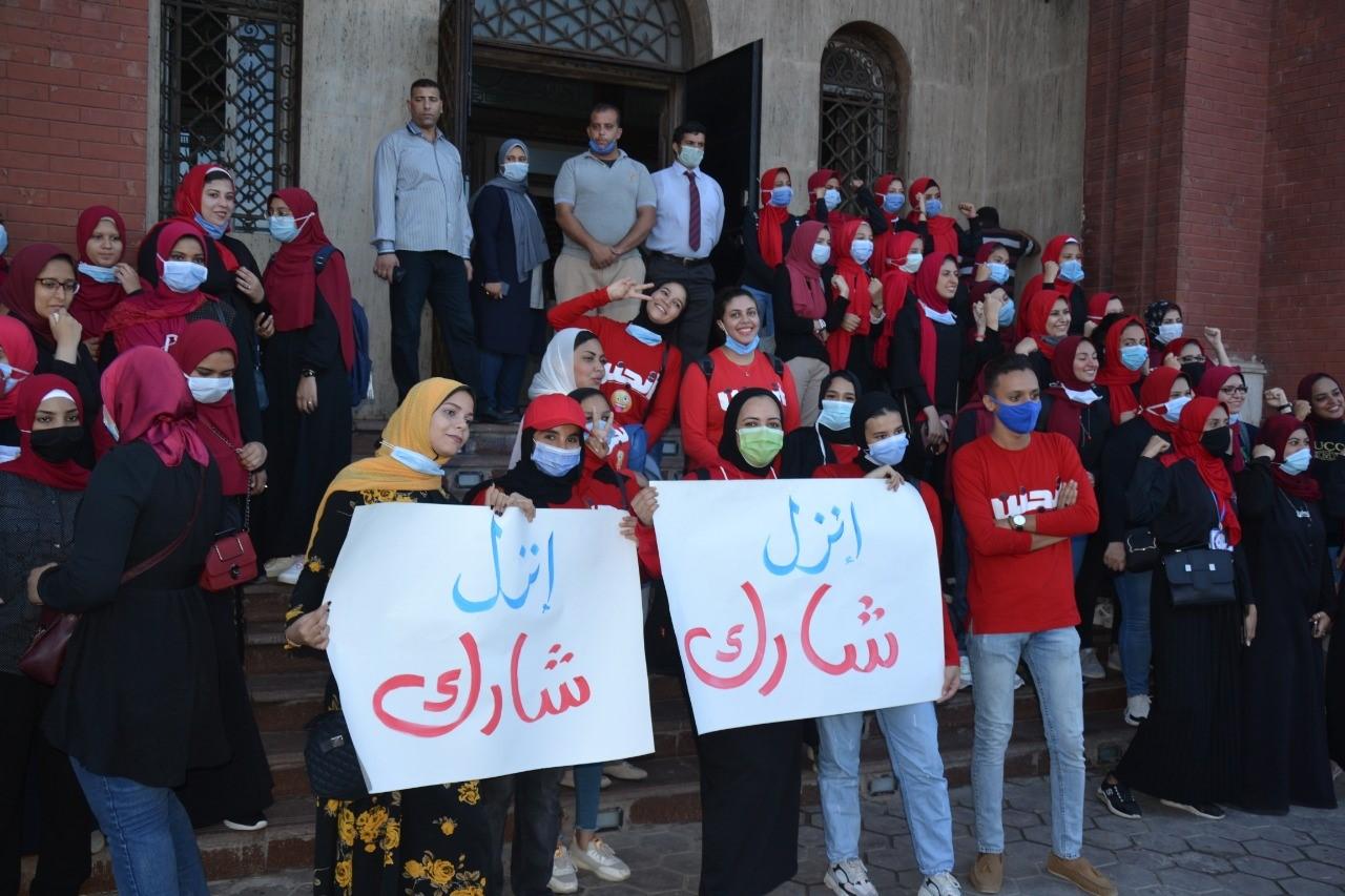 طلاب جامعة الاسكندرية يشاركون انتخابات مجلس النواب