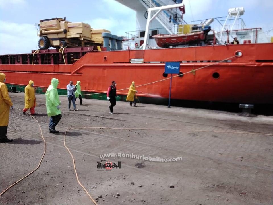 وصول اول قطارروسى مجرى لميناء الاسكندرية وسط اجراءات احترازية مشدده بسبب كورونا--