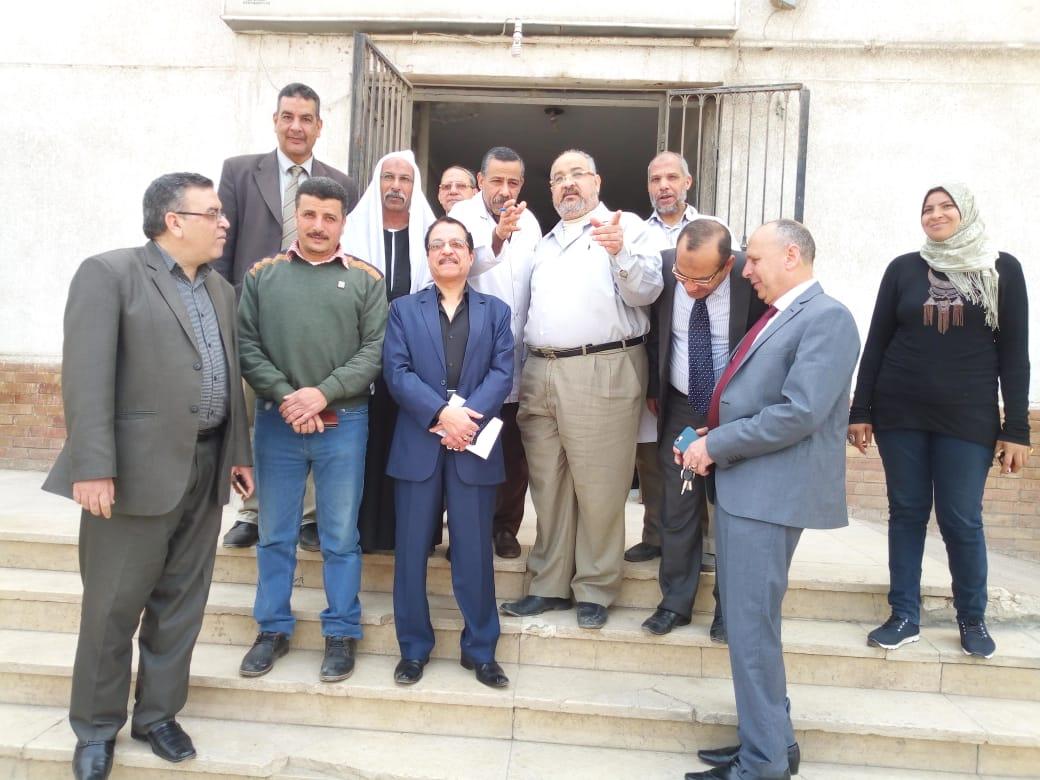 وفد الجمعيات مع مدير المستشفى و النواب